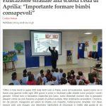 Corso di educazione stradale alla Scuola dell'Infanzia di Carano – Aprilia