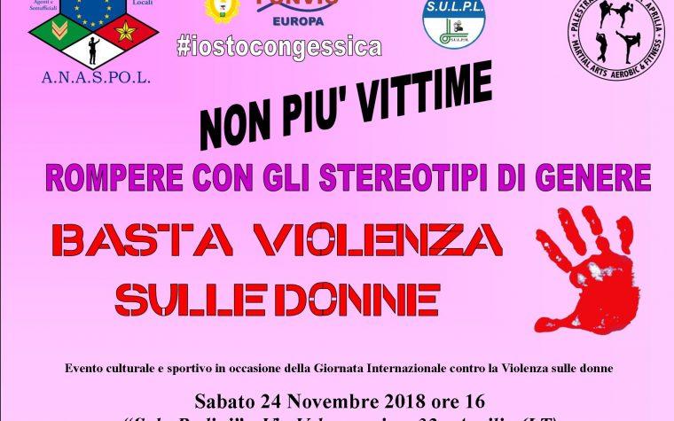 CONTRO LA VIOLENZA SULLE DONNE – Evento ad Aprilia