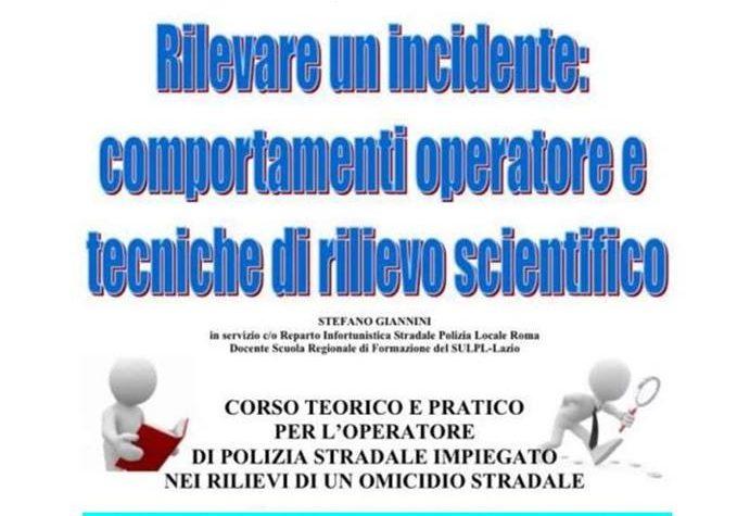 Rilevare un incidente stradale, corso di formazione a Roma