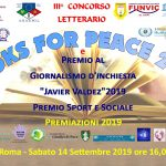 III EDIZIONE BOOKS FOR PEACE 2019