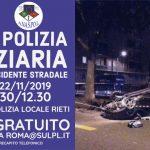 Rieti: Corso sugli atti di P.G. nei rilievi di incidente stradale