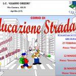 Corso di educazione stradale presso l'I.C. Gianni Orzini di Aprilia