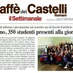 L'ANASPOL INCONTRA OLTRE 350 STUDENTI DELLE MEDIE DI LANUVIO (RM)